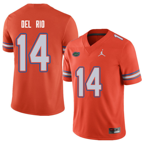 Jordan Brand Men #14 Luke Del Rio Florida Gators College Football Jerseys Sale-Orange
